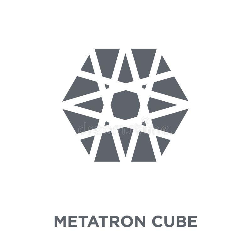 Het pictogram van de Metatronkubus van Meetkundeinzameling stock illustratie