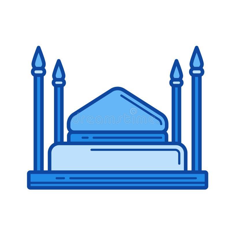 Het pictogram van de moskeelijn vector illustratie