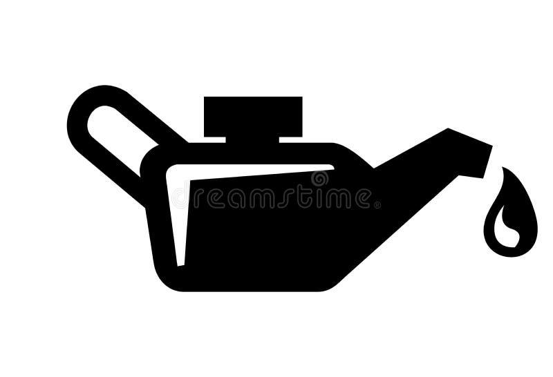 Het pictogram van de motorolie stock illustratie