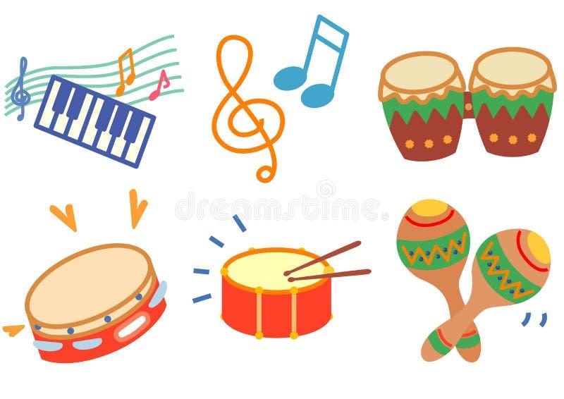 Het pictogram van de muziek royalty-vrije illustratie