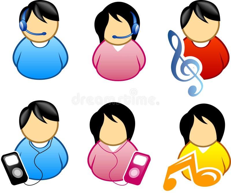 Het pictogram van de muziek vector illustratie