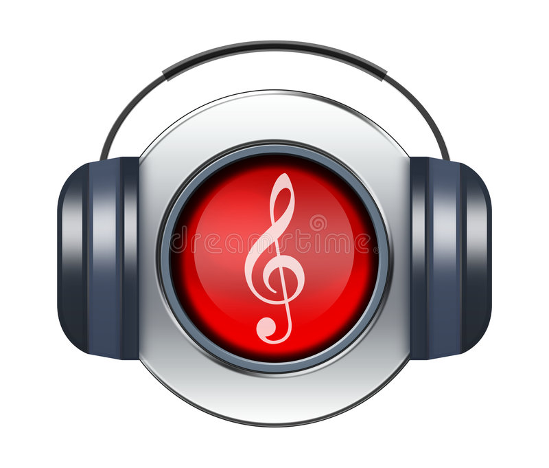 Het pictogram van de muziek