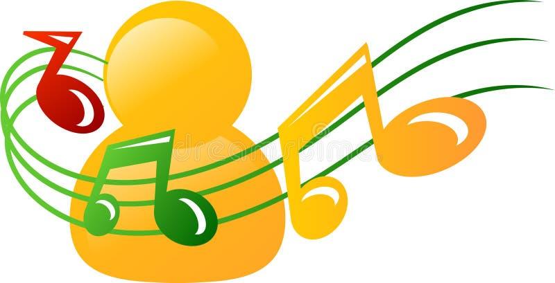 Het pictogram van de muziek stock illustratie