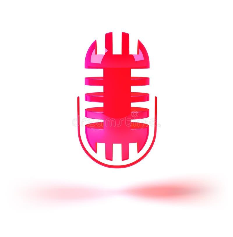 Het pictogram van de muziek: microfoon stock illustratie