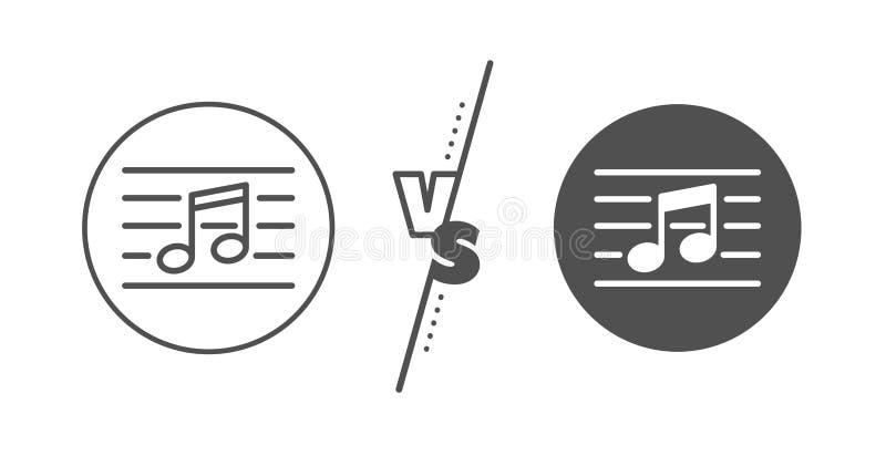 het pictogram van de muzieknootlijn Muziekteken Vector vector illustratie