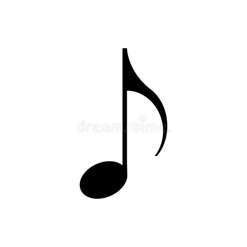 Het Pictogram van de muzieknota royalty-vrije illustratie
