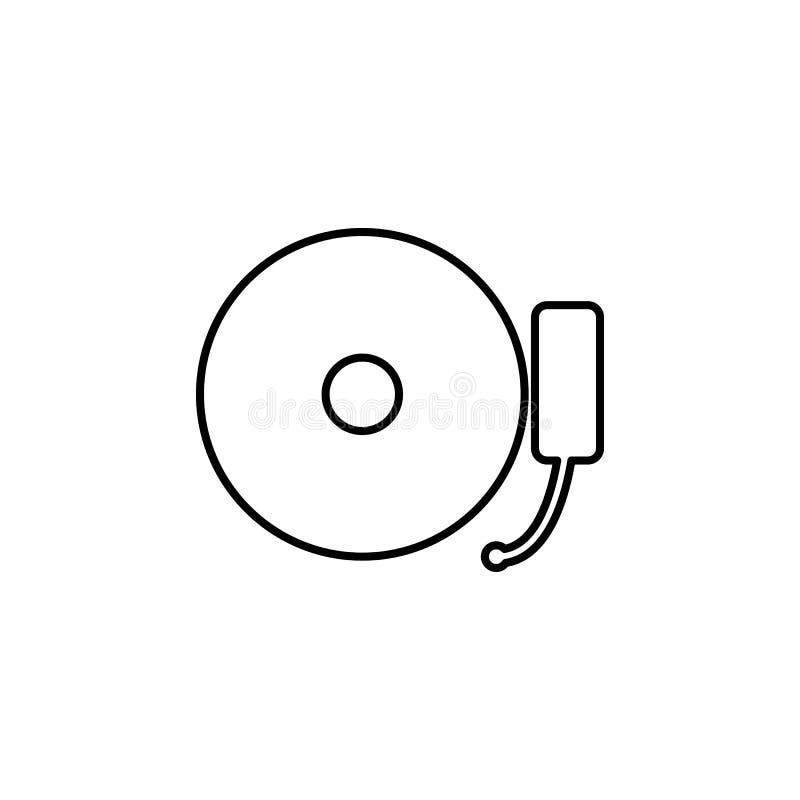 het pictogram van de muziekplaat Element van Webpictogram voor mobiel concept en Web royalty-vrije illustratie