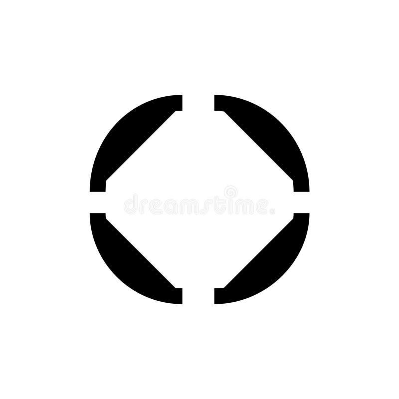 Het pictogram van de nadrukcamera royalty-vrije illustratie