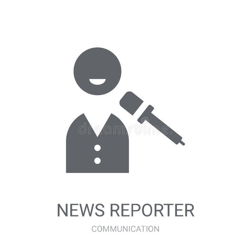 Het pictogram van de nieuwsverslaggever  vector illustratie