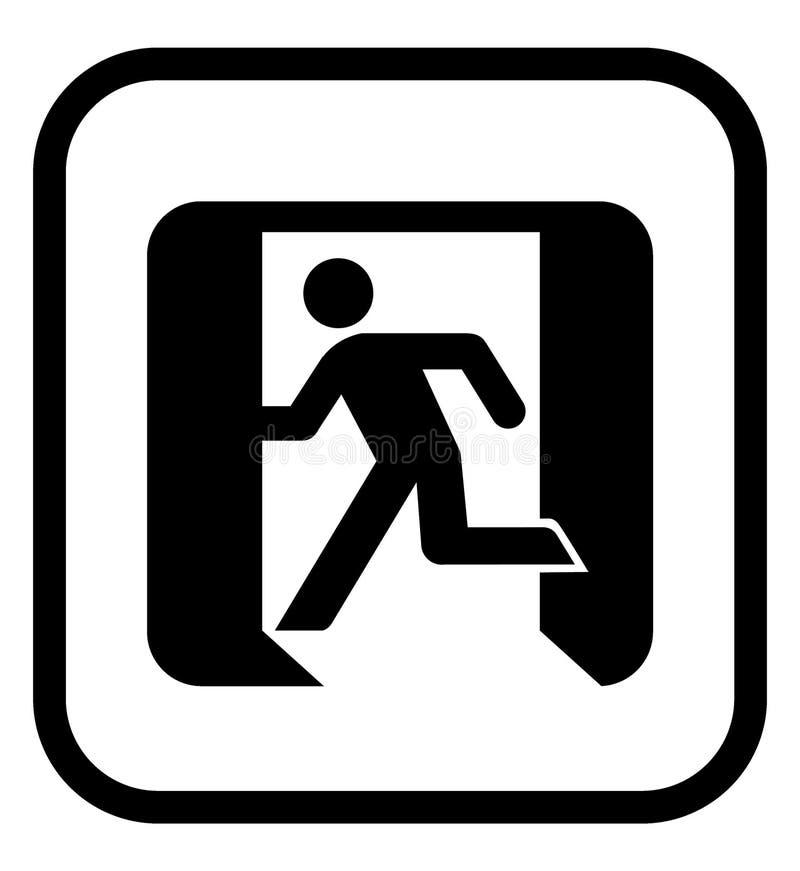 Het pictogram van de nooduitgang vector illustratie