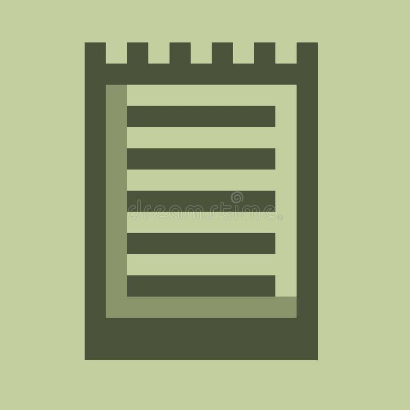 Het pictogram van de nota stock fotografie