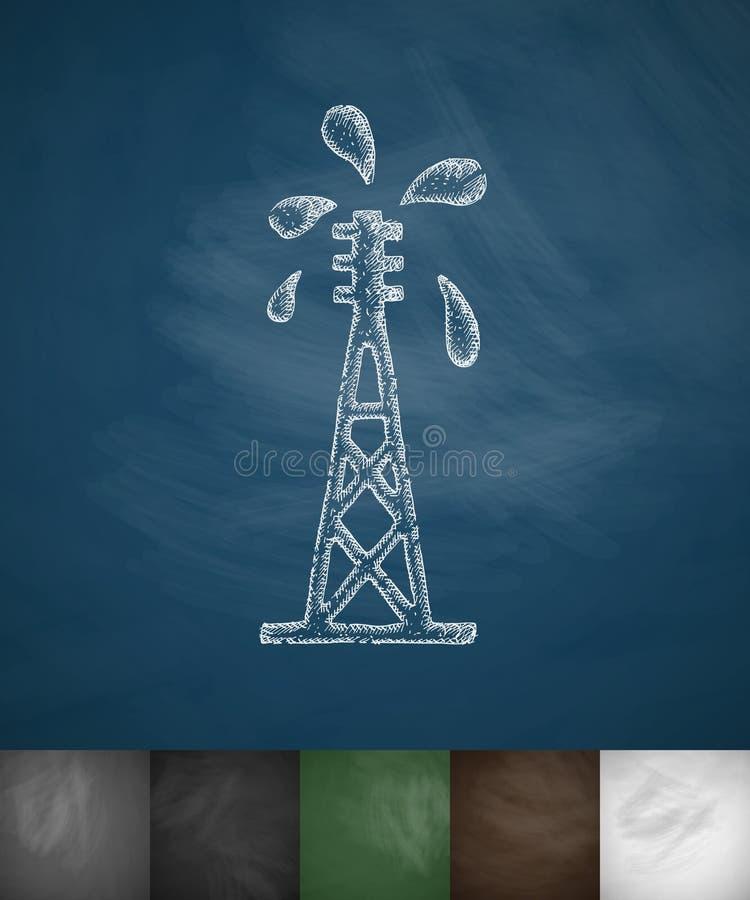 Het pictogram van de olieboortoren stock illustratie