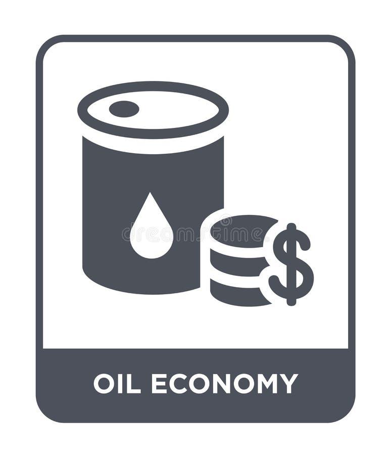 het pictogram van de olieeconomie in in ontwerpstijl het pictogram van de olieeconomie dat op witte achtergrond wordt geïsoleerd  vector illustratie