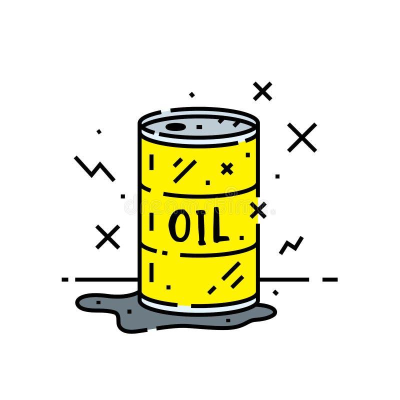 Het pictogram van de olievatlijn stock illustratie
