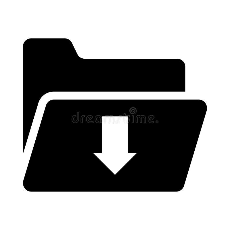 Het pictogram van de omslagdownload stock illustratie