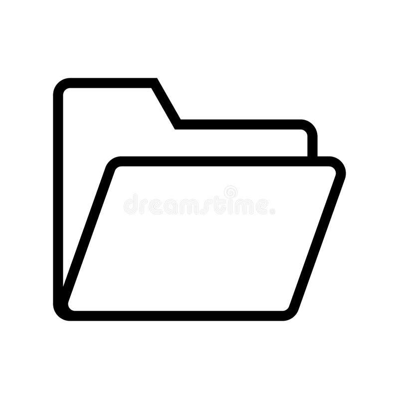 Het pictogram van de omslaglijn stock afbeeldingen
