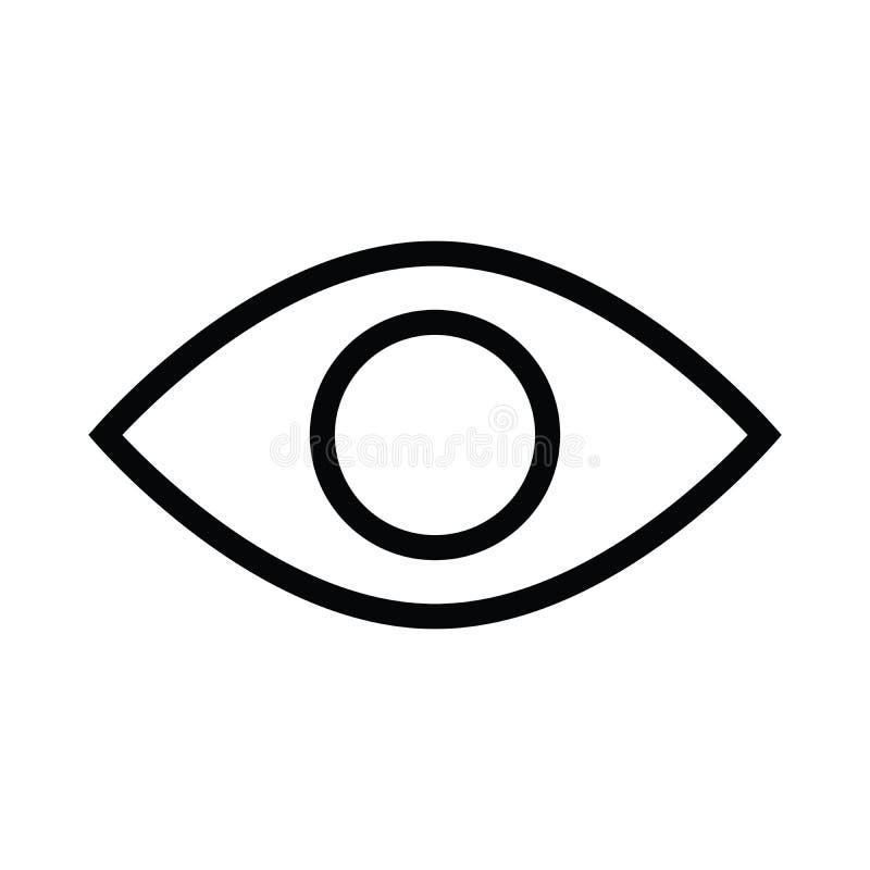 Het pictogram van de ooggezondheid met overzichtsstijl royalty-vrije illustratie