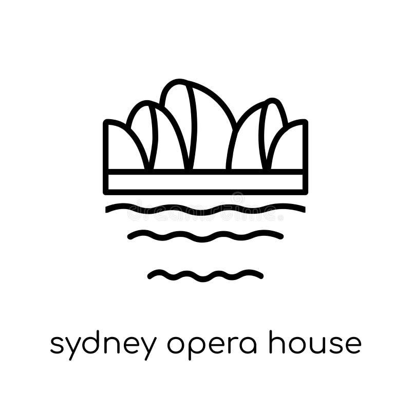 Het pictogram van het de operahuis van Sydney In modern vlak lineair vectorsydney royalty-vrije illustratie