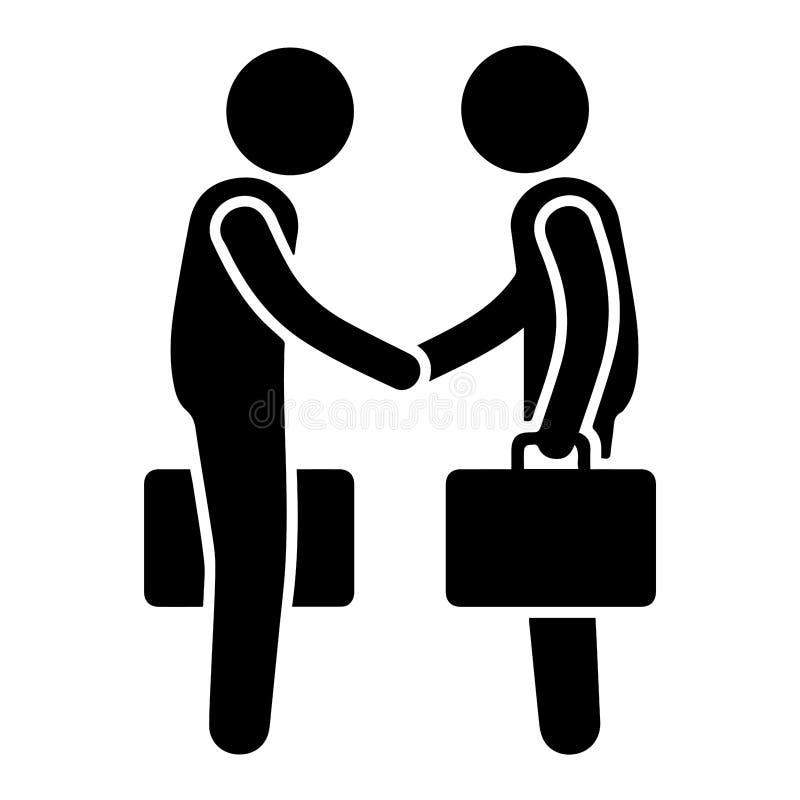 Het Pictogram van het de Overeenkomstensymbool van het handdrukcontract vector illustratie