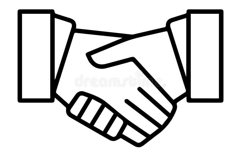 Het Pictogram van het de Overeenkomstensymbool van het handdrukcontract stock illustratie