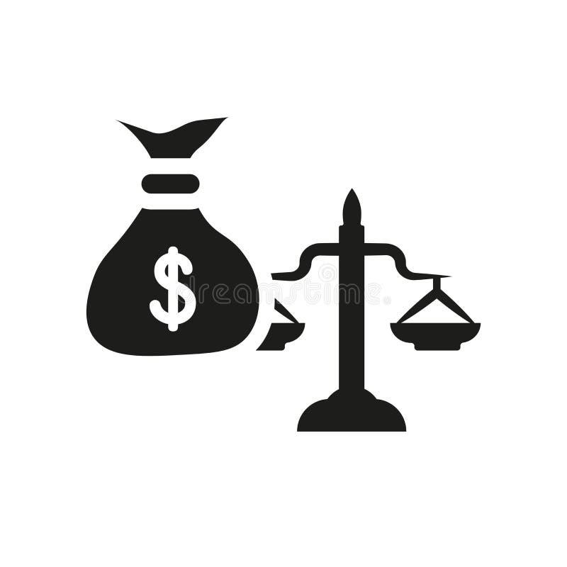 het pictogram van de overervingswet In het embleemconcept van de overervingswet op whi stock illustratie