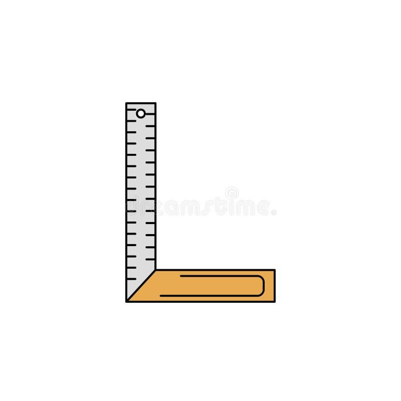 het pictogram van de het overzichtskleur van de hoekheerser stock illustratie