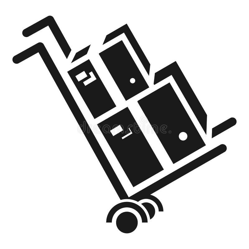 Het pictogram van de pakketkar, eenvoudige stijl royalty-vrije illustratie