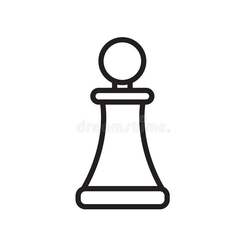 het pictogram van de pandwinkel op witte achtergrond wordt geïsoleerd die vector illustratie