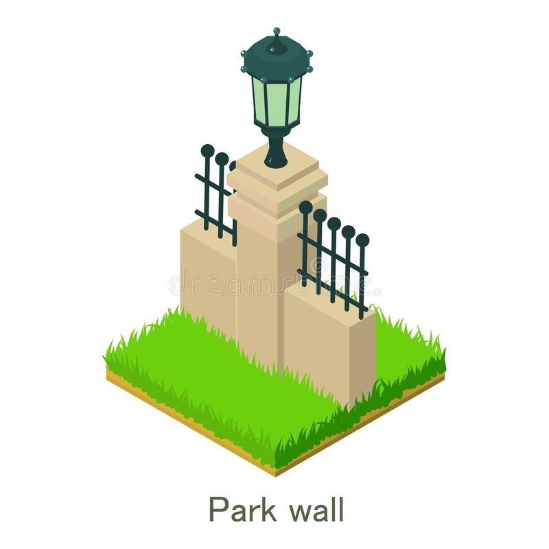 Download Het Pictogram Van De Parkmuur, Isometrische Stijl Vector Illustratie - Illustratie bestaande uit ecologie, ontspanning: 107708521