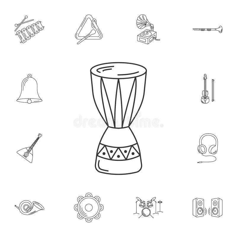 Het pictogram van de paukenlijn Eenvoudige elementenillustratie Paukenlijn sym stock illustratie