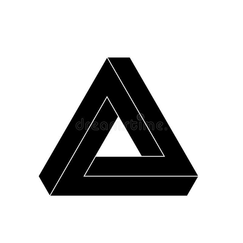 Het pictogram van de penrosedriehoek geometrische 3d for Escaleras infinitas