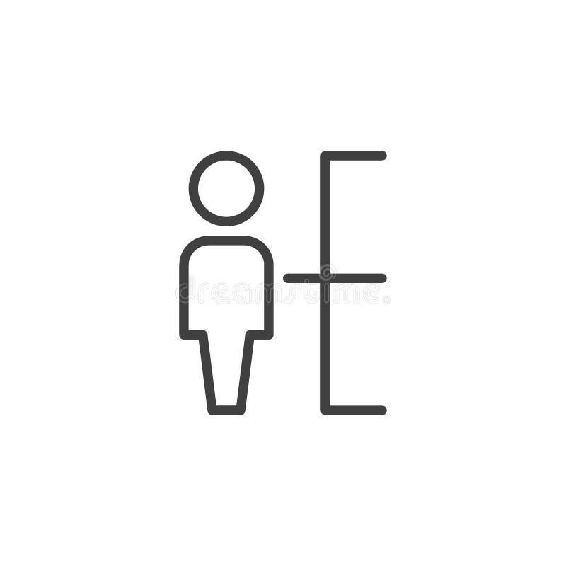 Het pictogram van de personeelslijn stock illustratie