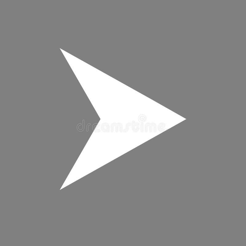 Het pictogram van de pijlnavigator vector illustratie