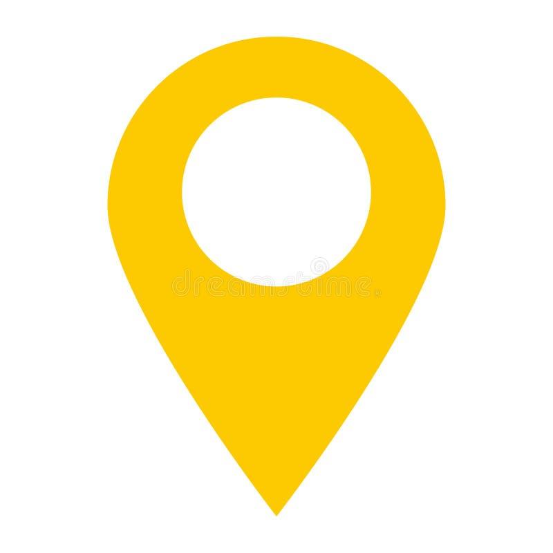 Het pictogram van de plaatsspeld op witte achtergrond het punt van de plaatsspeld royalty-vrije illustratie