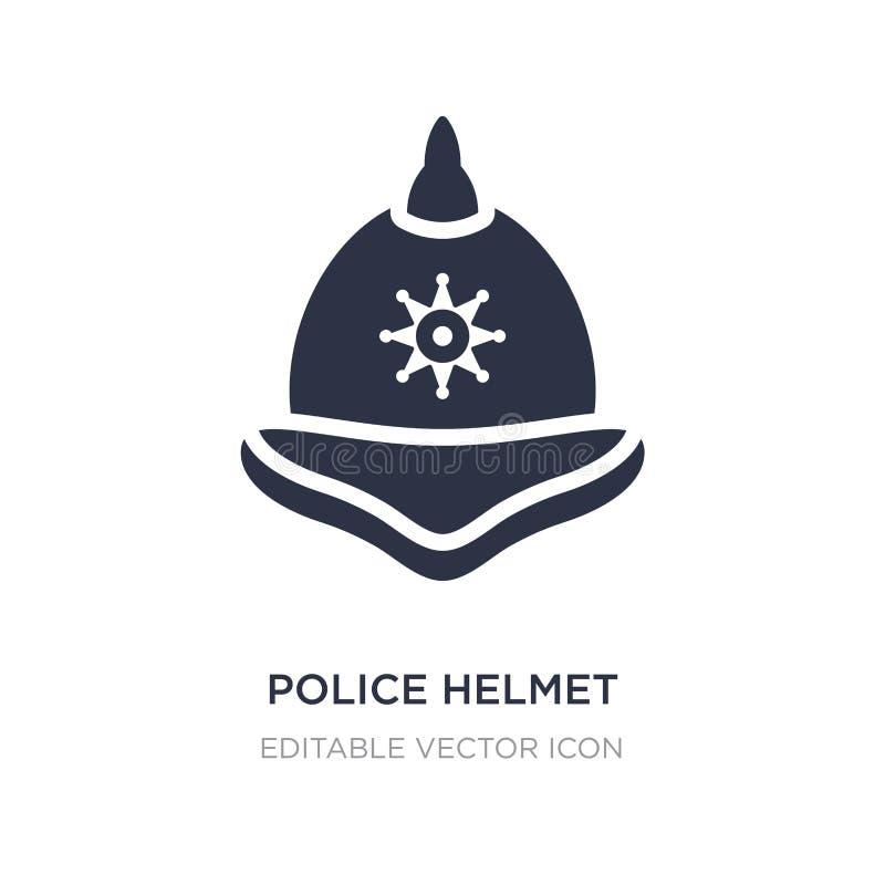 het pictogram van de politiehelm op witte achtergrond Eenvoudige elementenillustratie van Veiligheidsconcept royalty-vrije illustratie