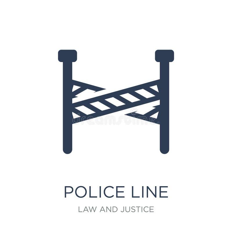 Het pictogram van de politielijn  royalty-vrije illustratie