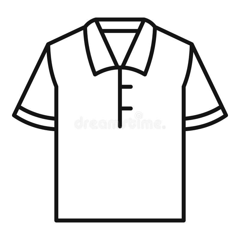 Het pictogram van de polot-shirt, overzichtsstijl stock illustratie