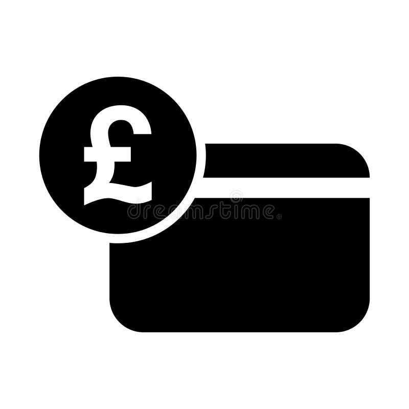 Het pictogram van de pond Sterlingcreditcard vector illustratie