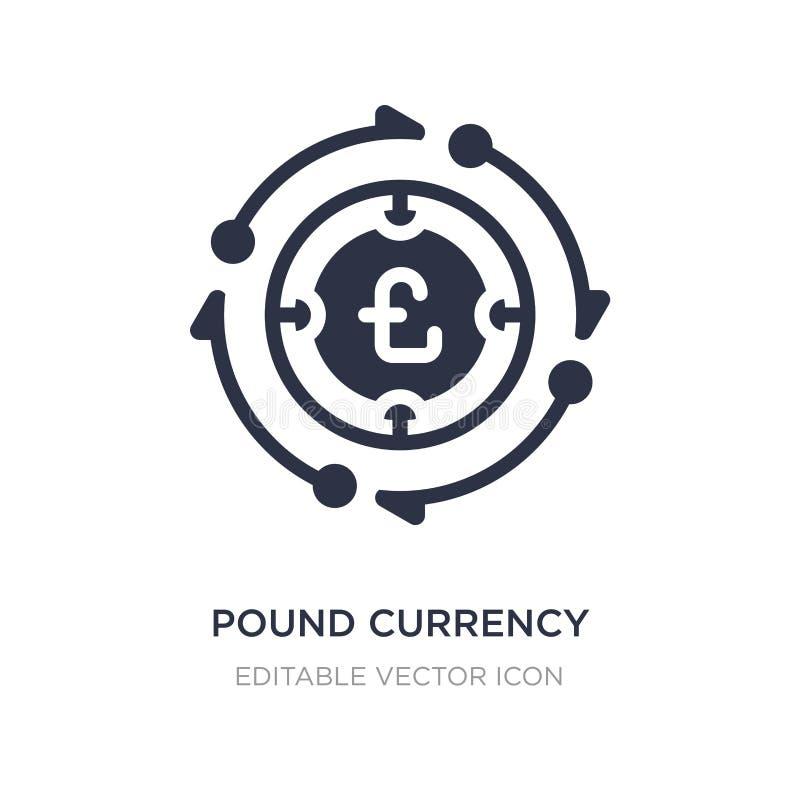 het pictogram van de pondmunt op witte achtergrond Eenvoudige elementenillustratie van Handelsconcept vector illustratie