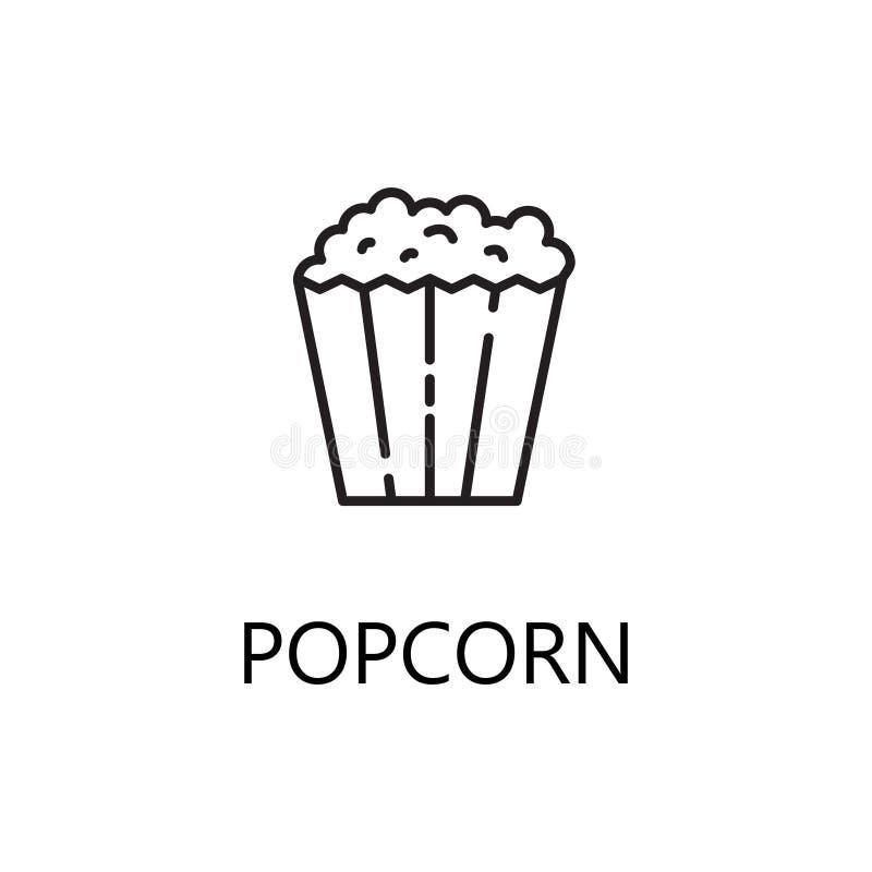Het pictogram van de popcornlijn vector illustratie