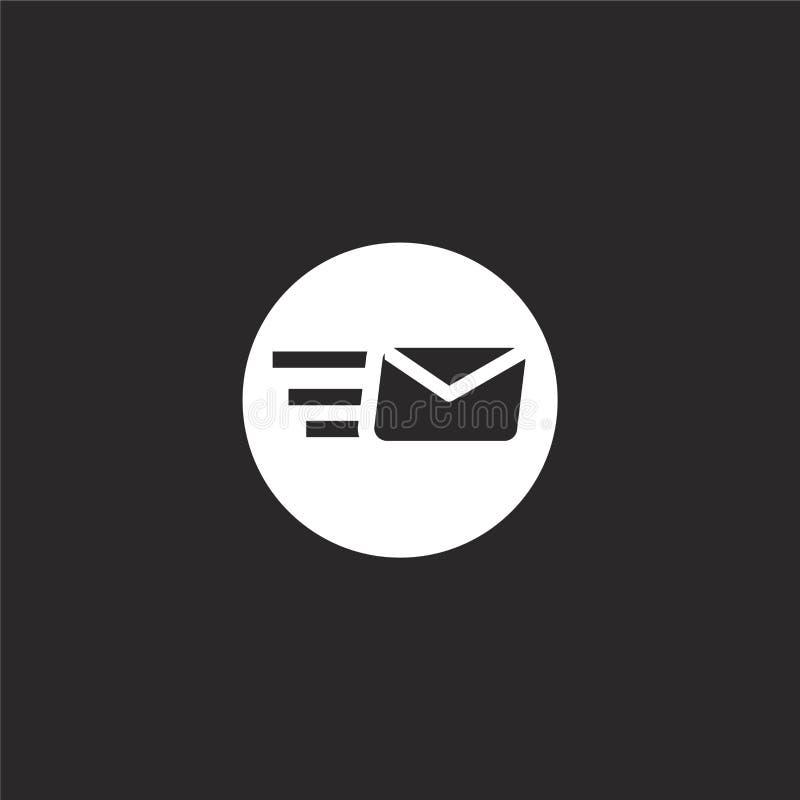 Het pictogram van de post grafische illustratie Gevuld postpictogram voor websiteontwerp en mobiel, app ontwikkeling postpictogra royalty-vrije illustratie