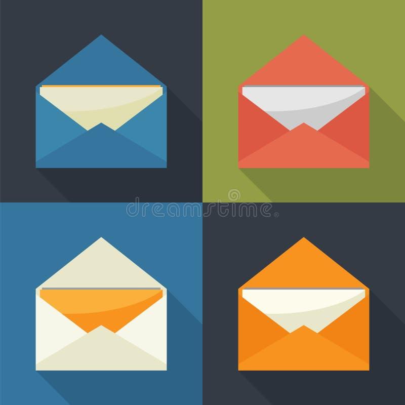 Het pictogram van de post grafische illustratie open vector illustratie