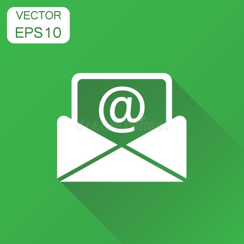 Het pictogram van de postenvelop Bedrijfsconceptene-mail pictogram Zieke vector stock illustratie