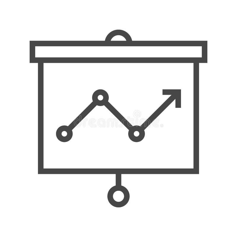 Het pictogram van de presentatielijn royalty-vrije illustratie