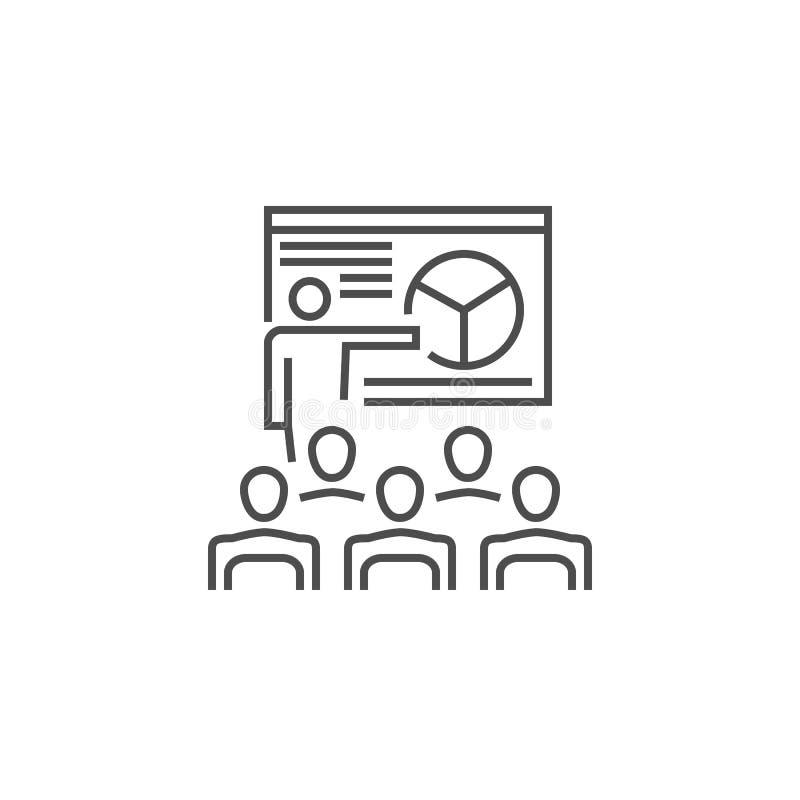 Het pictogram van de presentatielijn stock illustratie