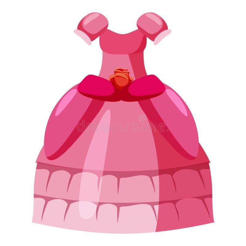 Het pictogram van de prinseskleding, beeldverhaalstijl vector illustratie