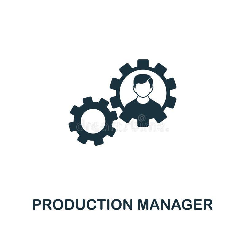Het pictogram van de productiemanager Het ontwerp van de premiestijl van startpictograminzameling UI en UX De Managerpictogram va vector illustratie