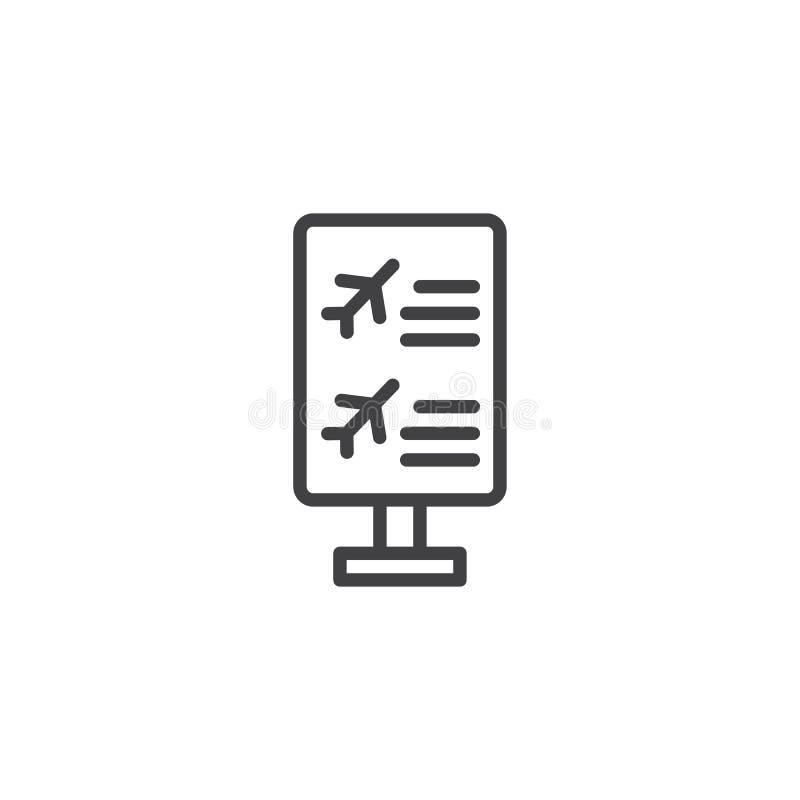 Het pictogram van het de raadsoverzicht van de vluchtinformatie royalty-vrije illustratie