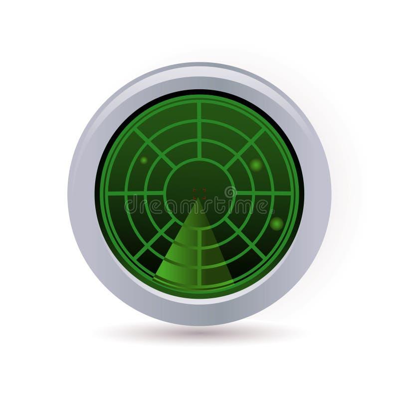 Het pictogram van de radar vector illustratie