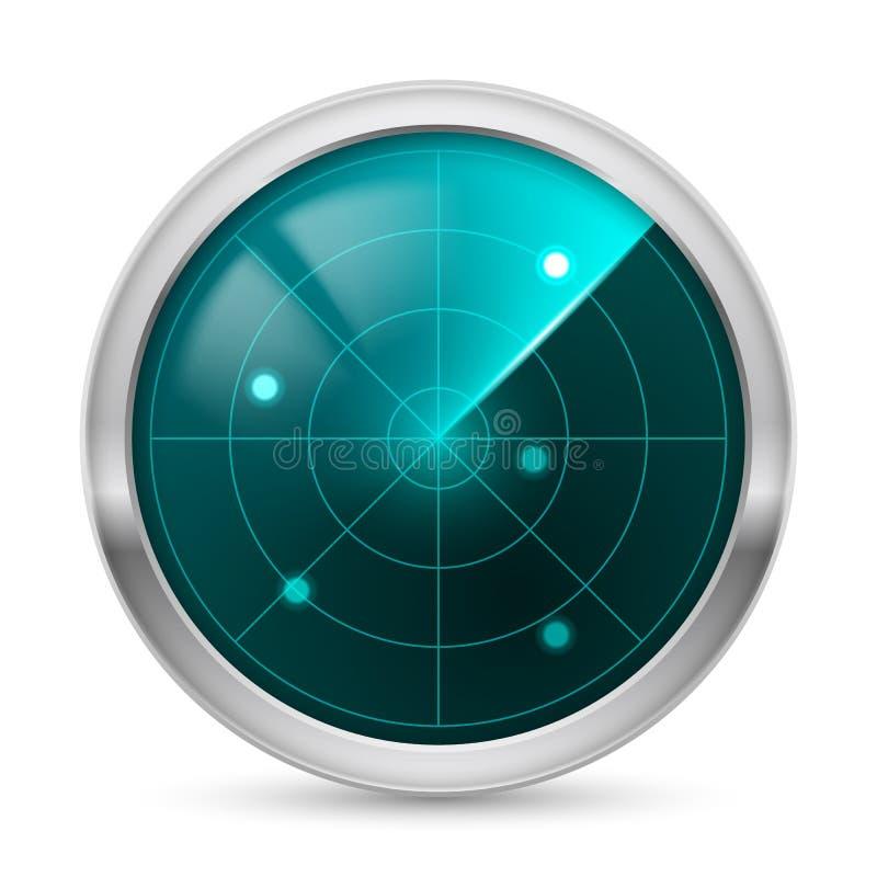 Het pictogram van de radar stock illustratie